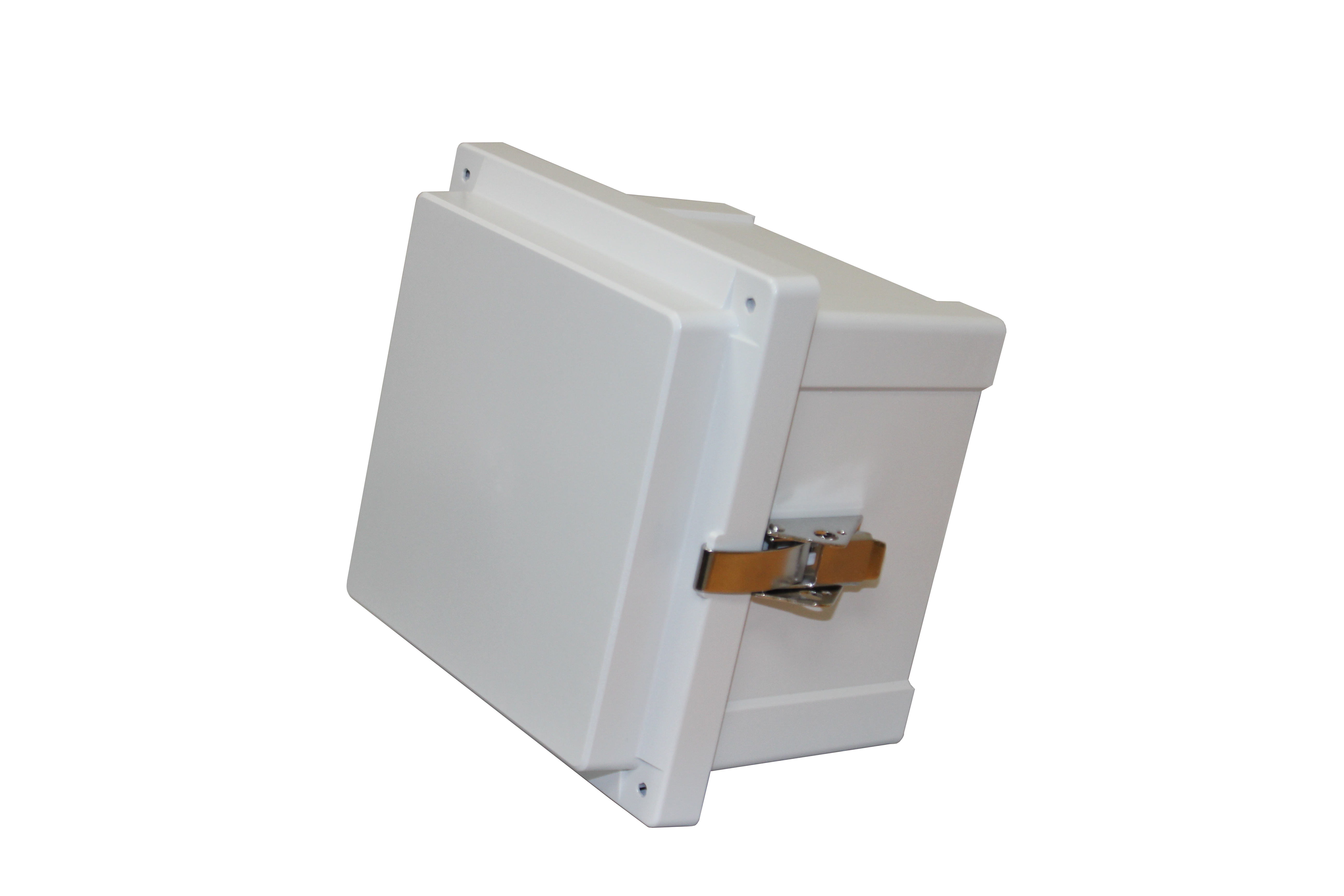 Hinged cover junction box