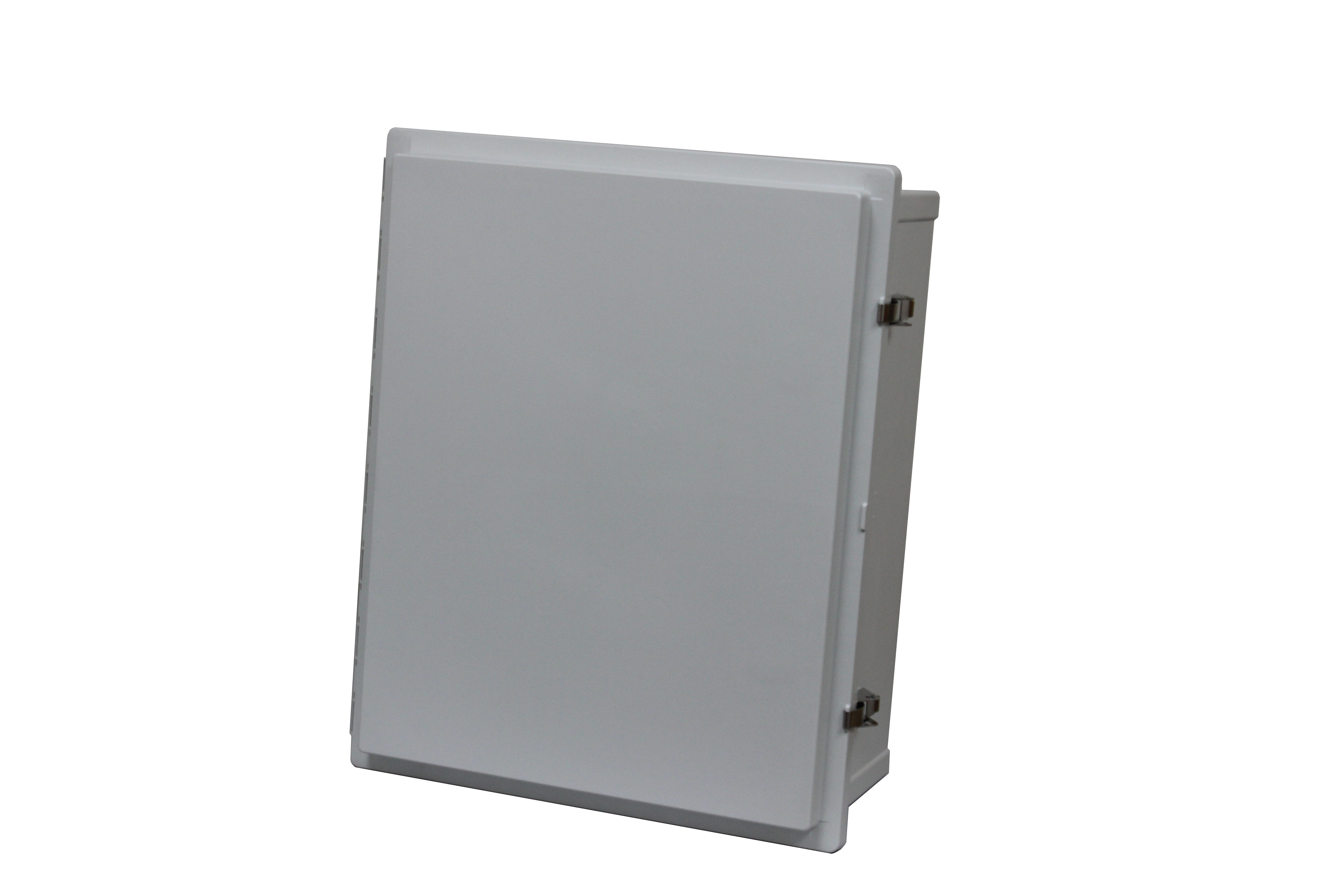Hinged opaque covered large enclosure