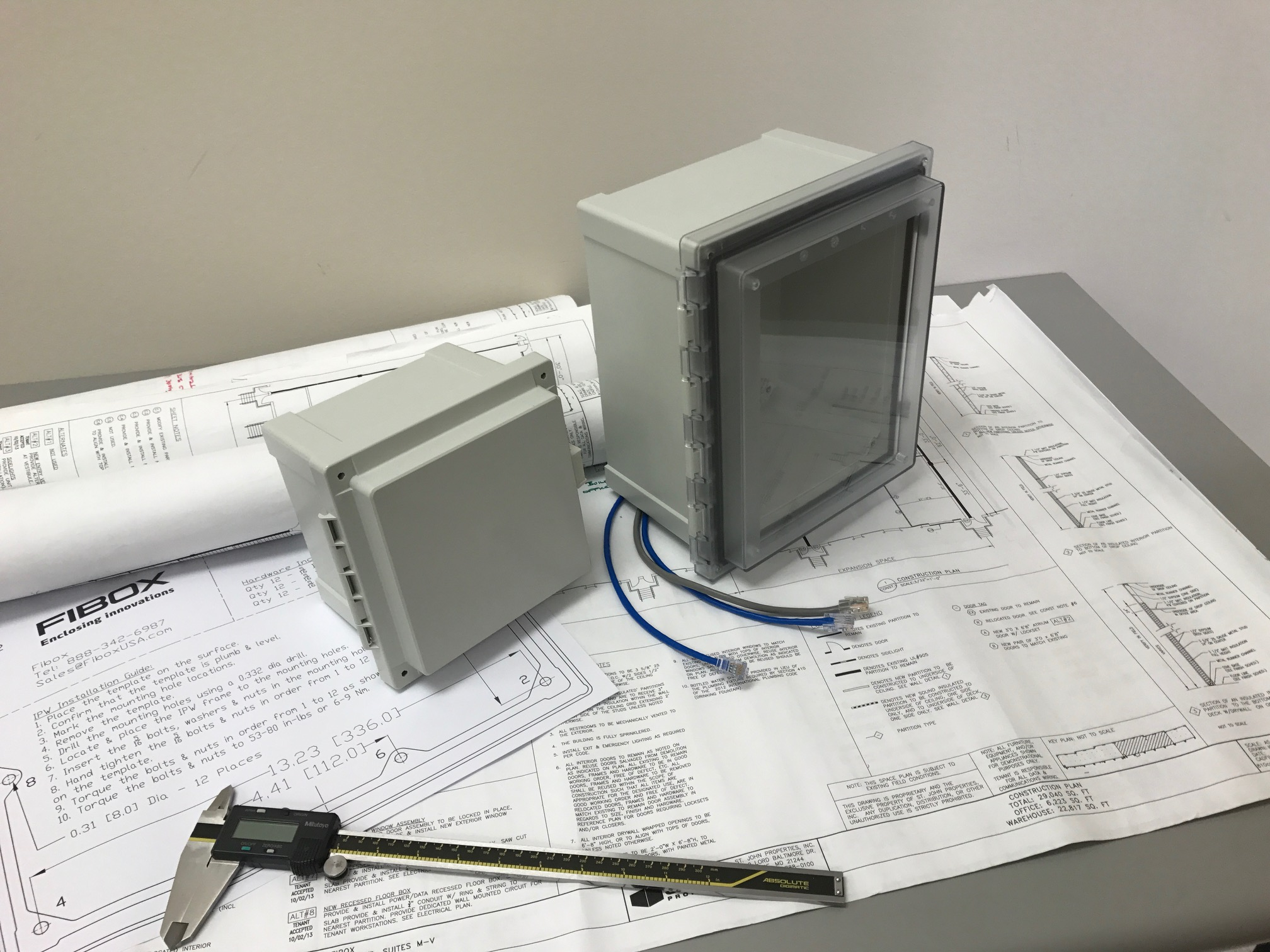 Master specs for Fibox NEMA Enclosures
