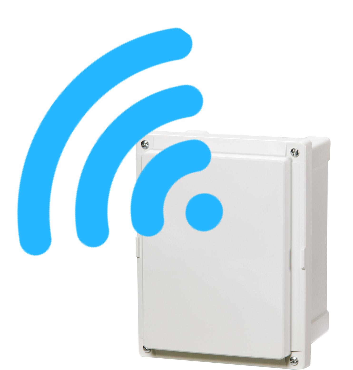 Wifi polycarboante enclosure