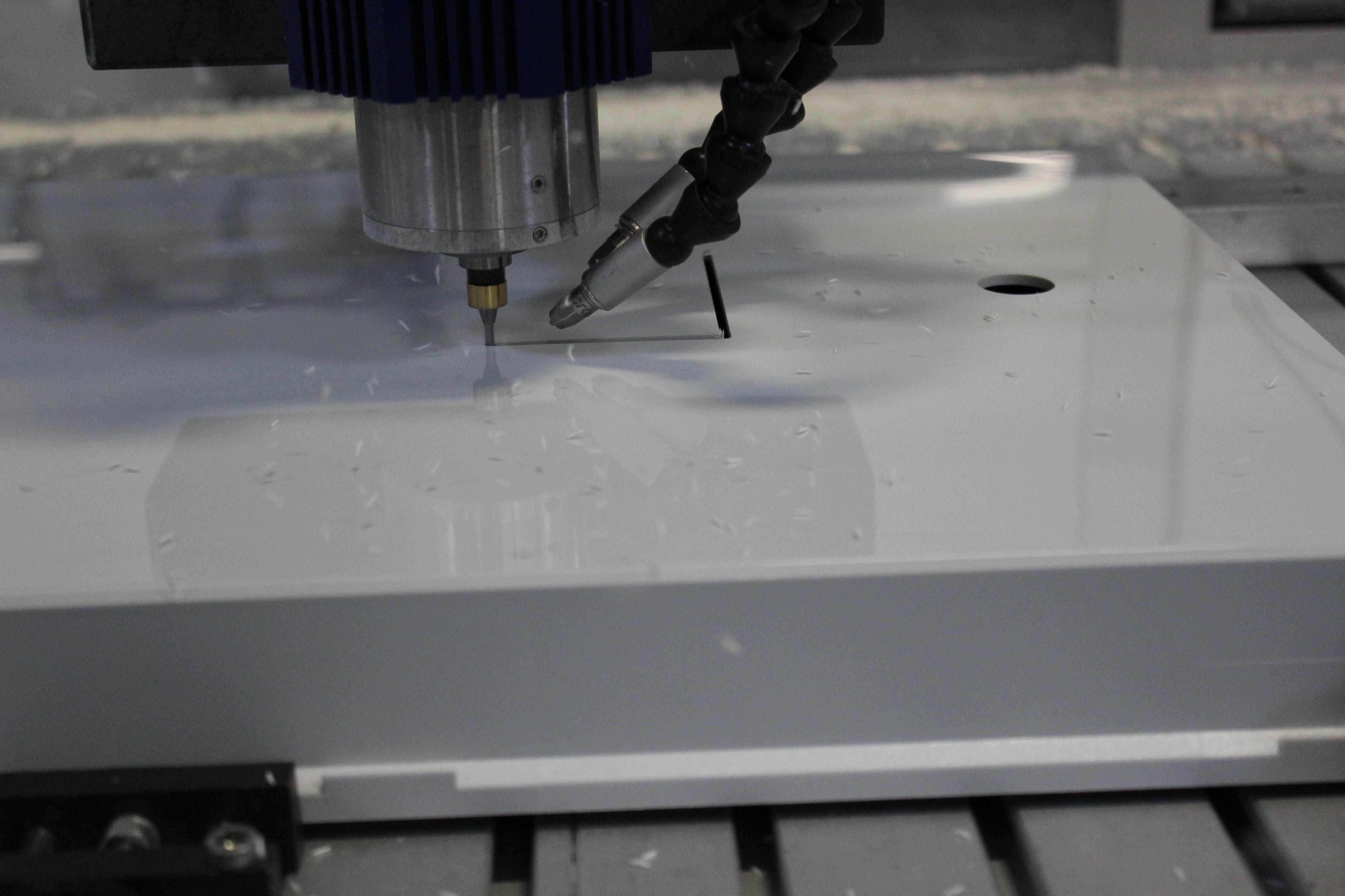 CNC machine cutting cover
