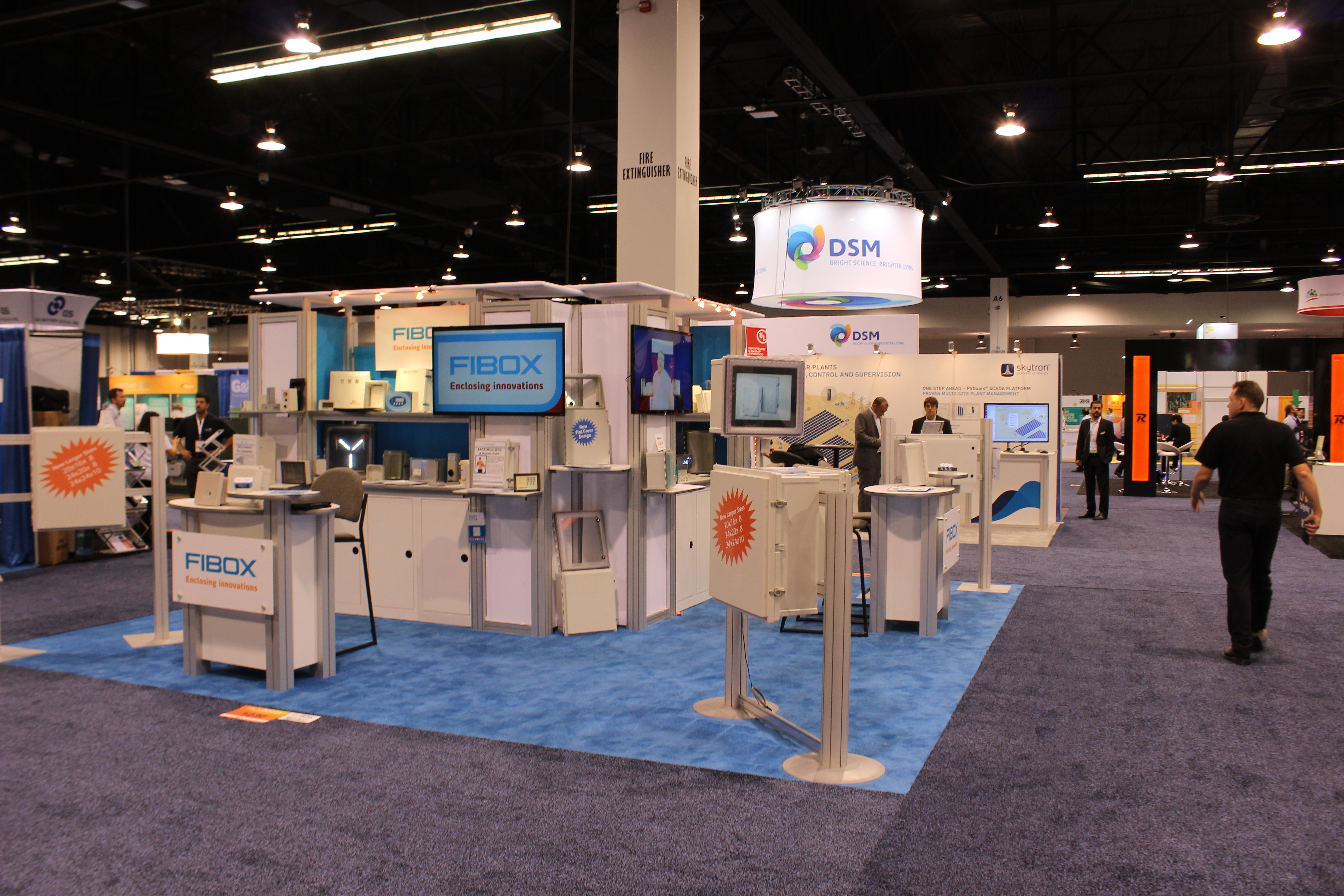 Fibox's booth at SPI 2015