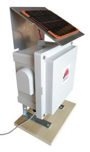Solar powered environmental monitoring device