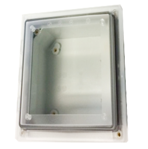 Transparent hinged enclosure
