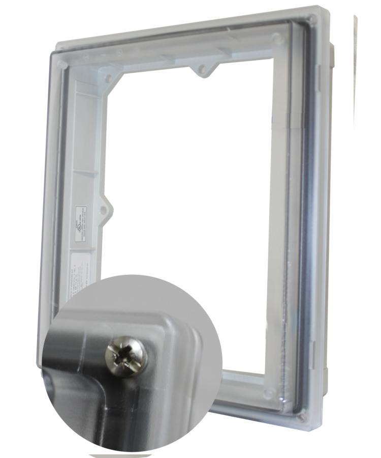 NEMA 4 X window
